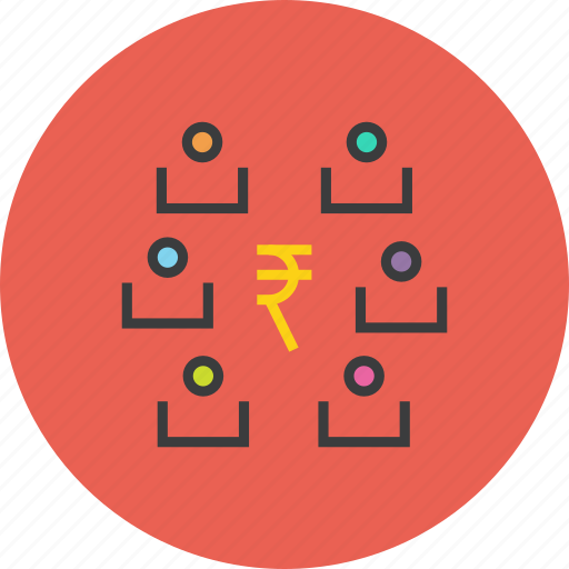 business, funds, partners, rupee, shareholders, stakeholders, transaction icon