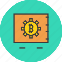 bitcoin, digital, locker, online, safe, storage, vault icon