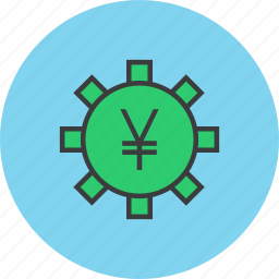 banking, business, finance, financial, options, settings, yen icon