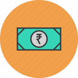business, cash, currency, finance, money, note, rupee icon