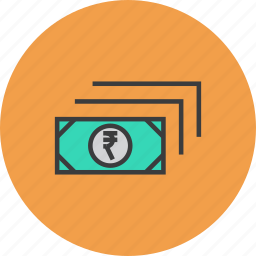 business, cash, currency, finance, money, rupee icon