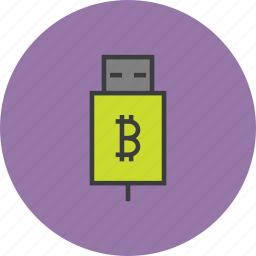 account, banking, bitcoin, online, recharge, transfer, usb icon