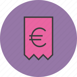 bill, cost, euro, invoice, receipt, statement, trade icon