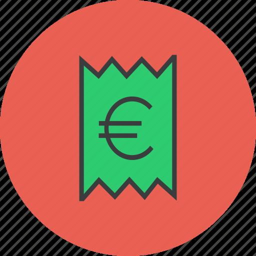 bill, euro, invoice, price, receipt, statement, trade icon