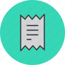 finance, bill, invoice, trade, statement, report, shopping icon