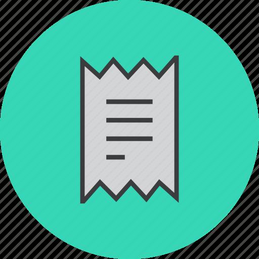 bill, finance, invoice, report, shopping, statement, trade icon