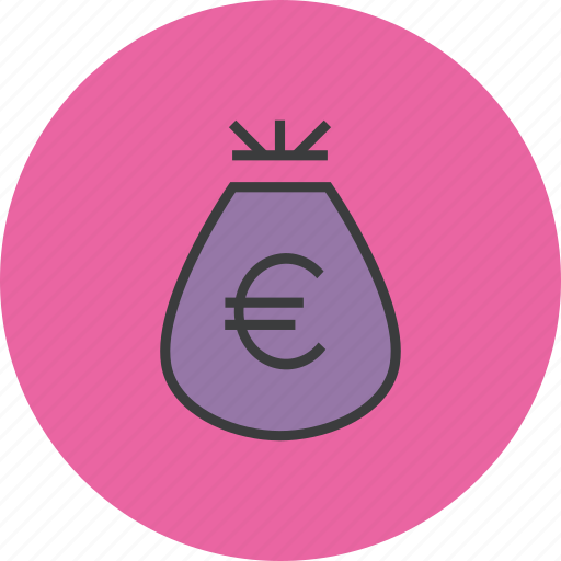 bag, cash, euro, funds, money, reward, trade icon