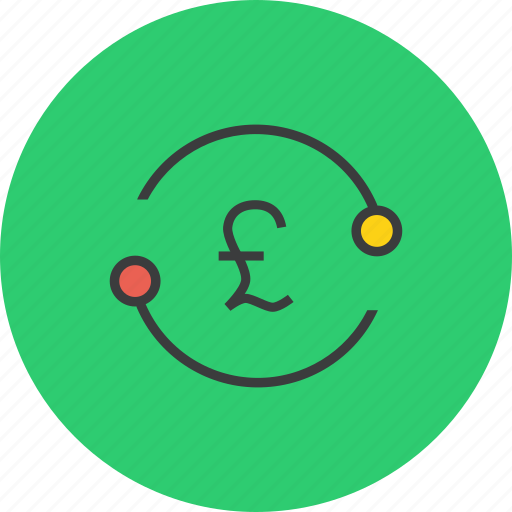 account, cycle, exchange, funds, pound, transaction, transfer icon
