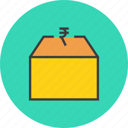 cash, funds, market, money, package, product, supply icon