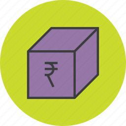 delivery, offer, package, product, rupee, sale, shopping icon