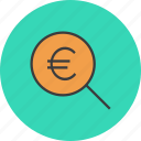 locate, search, funds, source, identify, find, euro icon