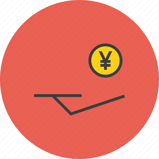 accept, banking, cash, coin, donation, funds, yen icon