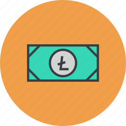 cash, currency, digital, litecoin, online, shopping, virtual icon