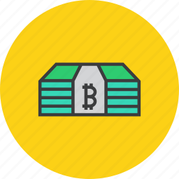 bitcoin, cash, currency, digital, money, online shopping, virtual icon