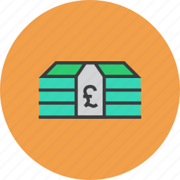 business, cash, finance, funds, money, pound, trade icon