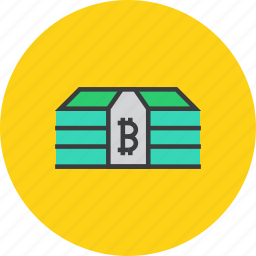 bitcoin, cash, currency, digital, money, online, virtual icon