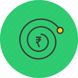 complexity, compound interest, finance, growth, rupee, trade, value icon