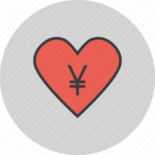 care, charity, donate, donation, love, trust, yen icon