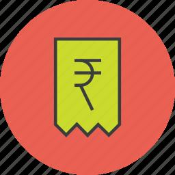 bill, business, cost, finance, invoice, rupee, trade icon