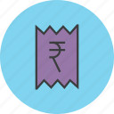 bill, business, cost, finance, invoice, rupee, trade icon