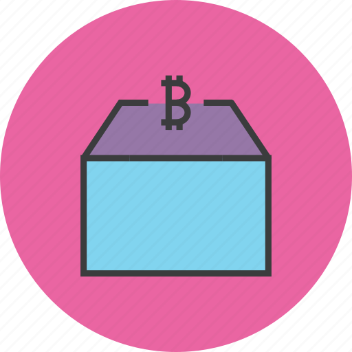 bitcoin, funds, market, money, package, product, supply icon