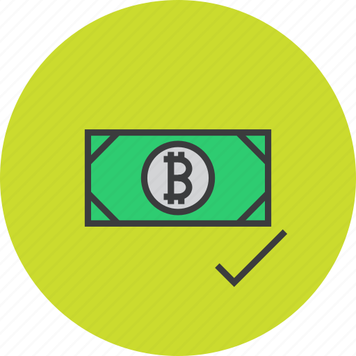 accept, accepted, bitcoin, currency, digital, online, shopping icon