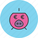 bank, banking, euro, finance, piggy, save, savings icon