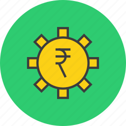 app, banking, business, options, rupee, settings, trade icon