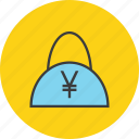 bag, balance, cash, ecommerce, finance, shopping, yen icon