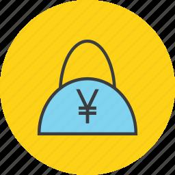 bag, balance, cash, ecommerce, finance, shopping, yen icon