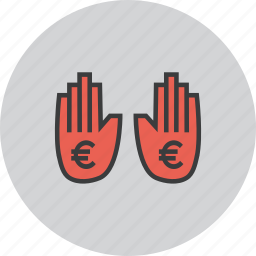 business, finance, funds, halt, payment, stop, transaction icon