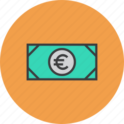 business, cash, commerce, currency, euro, finance, money icon
