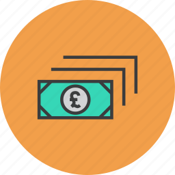 business, cash, currency, finance, money, pound, trade icon
