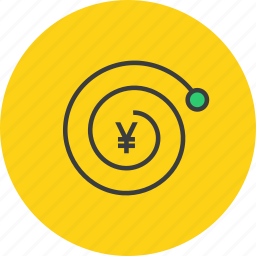 complexity, compound interest, finance, growth, trade, value, yen icon