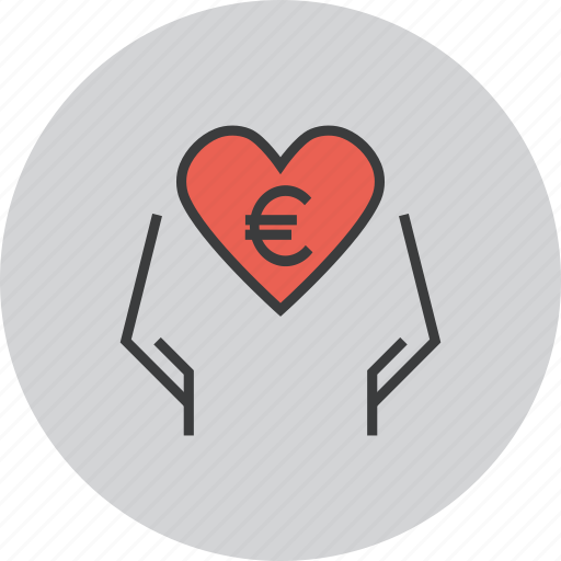 care, charity, donate, donation, eruo, love, trust icon