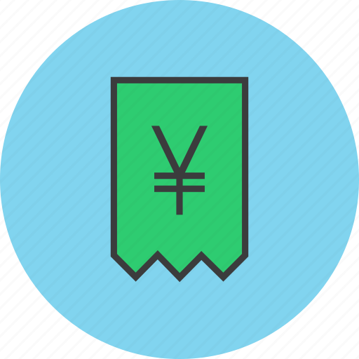 bill, business, finance, invoice, report, trade, yen icon