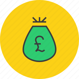 bag, cash, finance, funds, pound, prize, reward icon