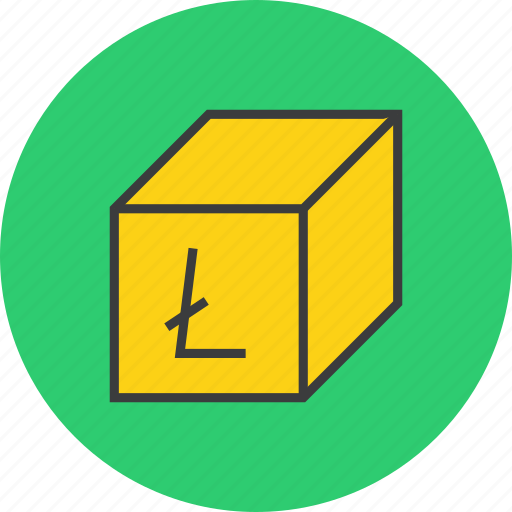 digital, litecoin, online, package, product, sale, shopping icon