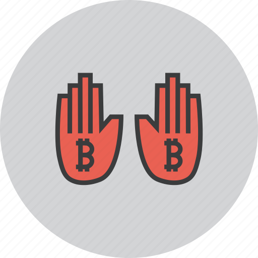 bitcoin, funds, online, payment, stop, trade, usage icon