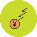 business, charge, finance, flow, funds, trade, yen icon