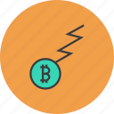 bitcoin, business, charge, finance, flow, funds, trade icon