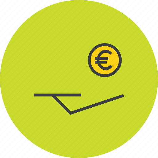 accept, banking, cash, coin, donation, euro, funds icon