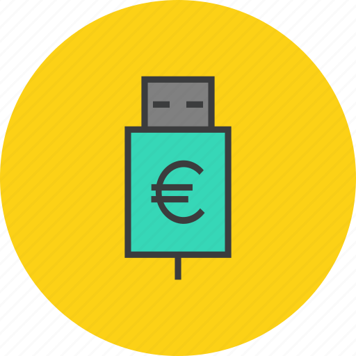 account, banking, charge, connect, euro, interest, recharge icon