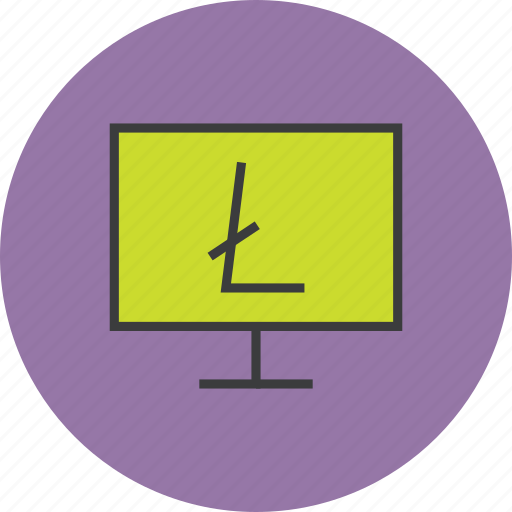 computer, digital, electronic, etrade, litecoin, online, shopping icon