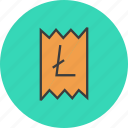 bill, business, cost, finance, invoice, report, trade icon