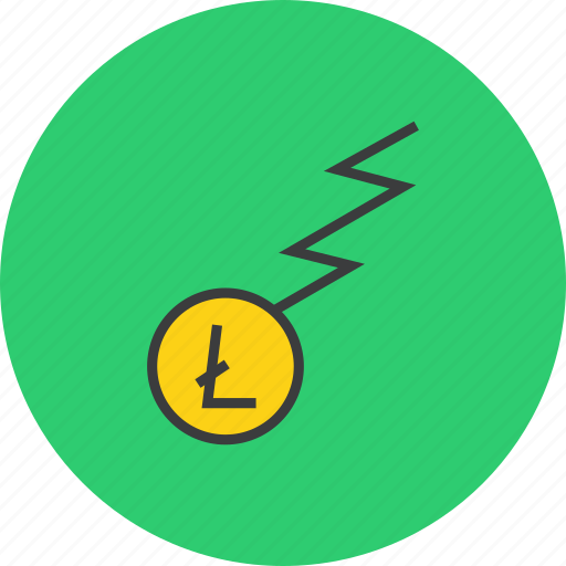 business, charge, finance, flow, funds, litecoin, trade icon