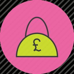 bag, balance, cash, finance, pound, shopping, trade icon