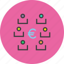 exchange, funds, multiple, partners, players, stakeholders, transfer icon