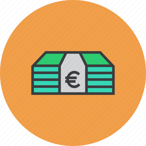 business, cash, euro, finance, funds, money, trade icon