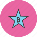 award, bitcoin, credit, favorite, rate, reward, star icon